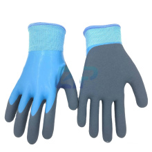 Thermal Waterproof Nylon Acrylic Liner Latex Double Dipped Sandy Coated Working Glove Winter