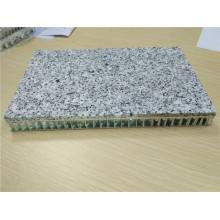 5 milímetros Pedra de granito cinzento com painel de favo de mel de 15 mm apoiado