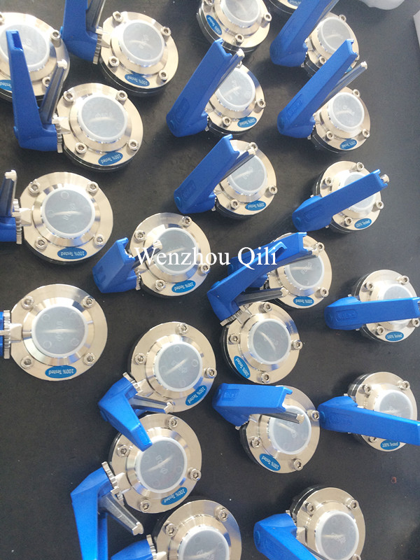 Clamped Weld Threaded Butterfly Valve