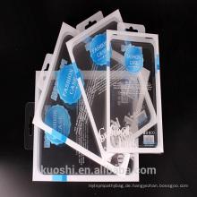 Kundenspezifischer klarer PVC-faltender Plastikverpackenkasten für Handykasten-Verpackenkasten mit Klotz