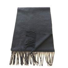 mezcla 50% cachemira 50% lana llanura media bufanda negra
