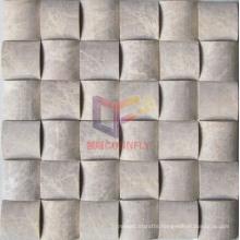 Curve Shape Face Polished Marble Mosaic (CFS937)