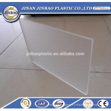 pantalla plegable utilizada hoja de plexiglás esmerilado transparente