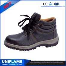 Zapatos de seguridad en relieve de cuero S3 con Ce Ufb006