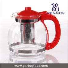 Pot de thé en verre 1.6L avec poignée en plastique (GB1161)