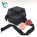 Populärer Metallfarbdruckfarbband-Satin kleidet doppelten offenen rosafarbenen Blumenkasten für Geschenk