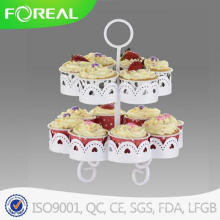 2-Tiers 14PCS Cupake Stand/ Dessert Plate