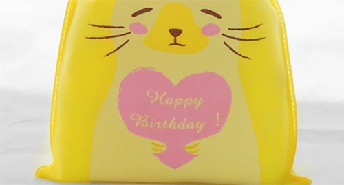 Yellow Birthday Bags