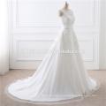 2017 Wholesale High Quality White Lace Train Dismountable Lady Dress Wedding For Bridal