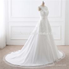 2017 al por mayor de alta calidad del tren blanco del cordón Desmontable Señora Dress Wedding For Bridal