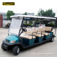 Excar 12 seater golf cart electric golf buggy car China sightseeing mini bus