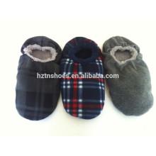 Men's slipper socks with rubber dots sole