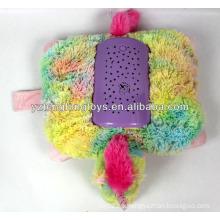 Plush luz de la noche relleno unicornio en forma de juguete de proyección juguete peluche de peluche