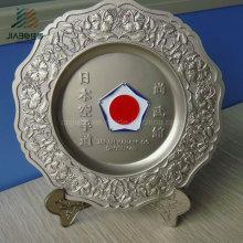 Personalize a placa da lembrança do metal de Katana do logotipo do karaté de Japão de 21cm com caixa de presente