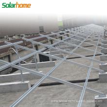 Sistema de montaje en tierra para sistema de energía solar Sistema de montaje de planta de energía solar para fotovoltaica