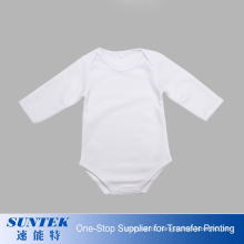 Sublimation Baby Bodysuit Polyester Short Sleeve Baby Boy Girl Printable Body Baby Rompers Onesie Clothes