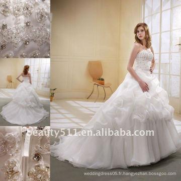 Astergarden À la mode, un nouveau style qui rembourre la voile de la ligne A-line comme cadeau La robe de mariée nuptiale la plus jeune fille MA-001