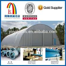 Longshun 610 Arco de la estructura de acero curvo de la máquina de techo / techo de acero Curving Machine