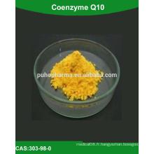 Approvisionnement Coenzyme Q10 à haute pureté (poudre de coenzyme q10, coenzyme de matière première q10