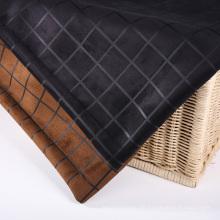 Checks Design Wildleder Stoffe für Bekleidung