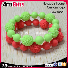 Fashion silicon bead bracelet cheap for full color events