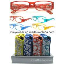 Senhoras moda plástico leitura óculos (MRP21662)