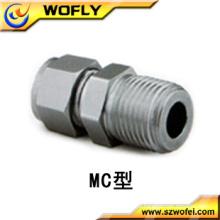 Acessórios de tubo de rosca macho de aço inoxidável para nitrogênio