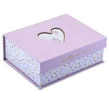 Custom paper cardboard photo storage boxes baby shoe packaging box with PVC clear window