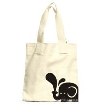 Lona blanca compras bolsas de mano