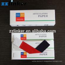 papier articulateur dentaire à forme droite