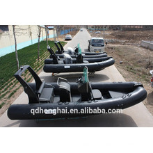 rowing boat RIB520 boat with ce consol inflatable boat