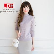 2017 Nueva personalizada suave medio collar de diamantes genuinos suéteres de cachemir de cashmere suéter puro para las mujeres
