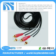10FT (3M) dual RCA Male to dual RCA Male AV Wire
