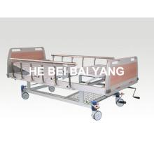 (A-54) - Мощная двухфункциональная ручная больничная койка с головкой из ABS-кровати