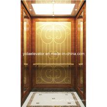 Best Quality Passenger Lift mit geätzten Goldenen Spiegel Edelstahl
