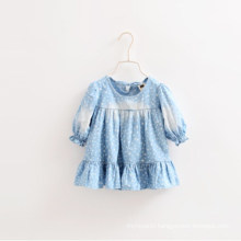 Autumn Latest Design Girl Jeans Shirts, Kids Ruffle Long Sleeves Shirts