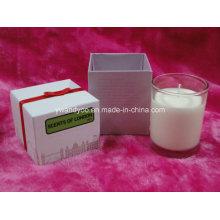 Bougie parfumée de luxe de myrtille avec l'emballage de boîte de carton