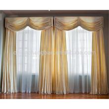 Nova moda real turco cortinas tecido de seda orgânica para cortinas