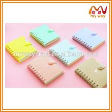 2016 novos produtos quentes do caderno diário a5 com cor de doce