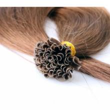 100% natürliche schwarze Menschenhaarverlängerungen, reines brasilianisches Haar flache Spitze Haar für Frauen