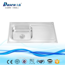DS 9050AP opened mould for Morocco market kithen sink with 18 gauge or 24 gauge single bowl with drainboard sink on sale