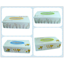 Plastic Printing Rectangle Tissue Boxes/Paper Holder (FF-0215)