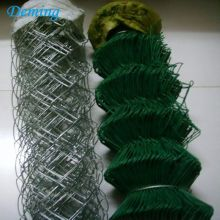 Chain Link Mesh Pagar PVC Coated Chain fences