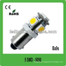 5 pcs 5050 branco puro Ba9s12V conduziu lâmpadas de barco