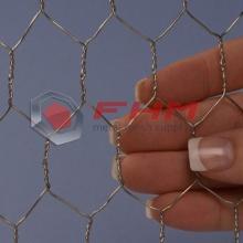 Treillis métallique hexagonal fabriqué par un fil d'acier inoxydable