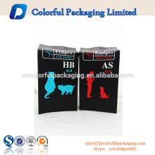 Sacos de plástico do reforço lateral personalizado dos sacos 4lb reusáveis para o alimento para cães