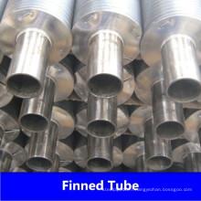 Tube à ailettes en acier inoxydable pour échangeur de chaleur