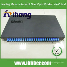 Panneau de raccordement à fibre optique SC 24port coulissant 1 pouce sur rack 1 pouce