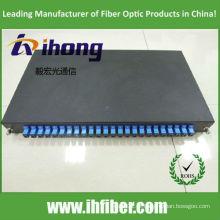 19 polegadas slidable rack 1U montado SC 24port painel de patch de fibra óptica