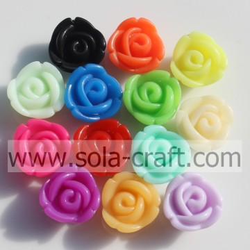 Beautiful Red Color Acrylic Rose Pendant Beads for DIY Jewelry!
